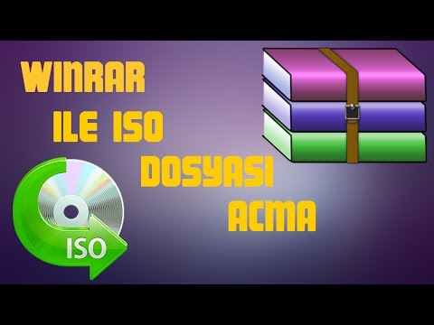 How to open iso file with winrar