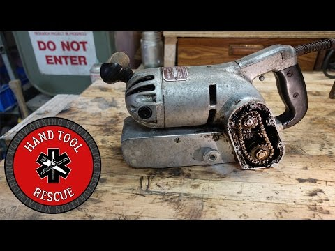 1950s Chain-driven Belt Sander [Restoration]