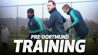TRAINING | Spurs prepare for Dortmund Champions League tie