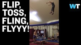 Epic Teeterboard Jumping and Flipping | What's Trending Now