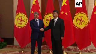 Xi meets counterparts from Belarus, Kyrgyzstan
