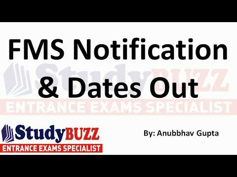 FMS forms out - Important dates, cut offs, fees structure, eligibility, number of seats