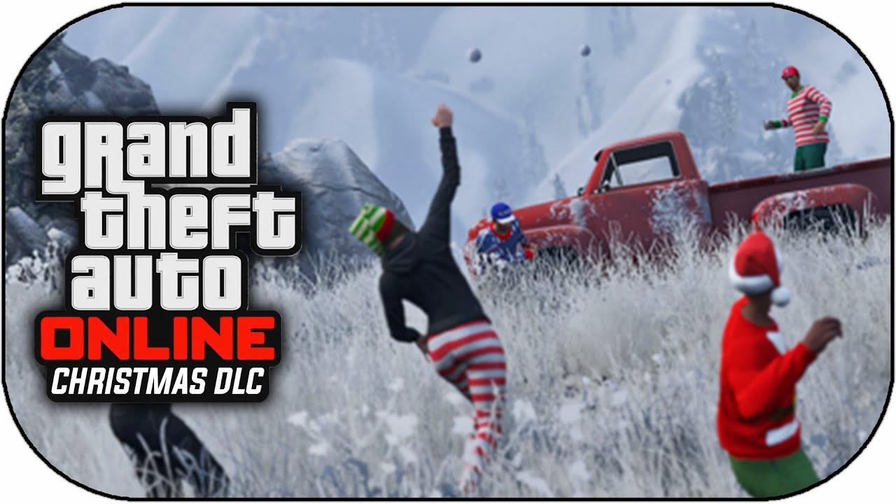 GTA 5 Christmas DLC - Snowball Fights,Snowfall & DLC Cars Festive ...