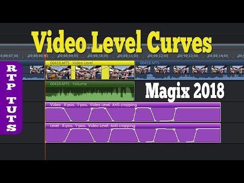 Magix Movie Edit Pro 2018 - Video Level Curves Tutorial (Transparency Key Frames)