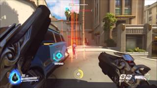 Overwatch Closed Beta - Reaper 8 Kill Streak with Death Blossom