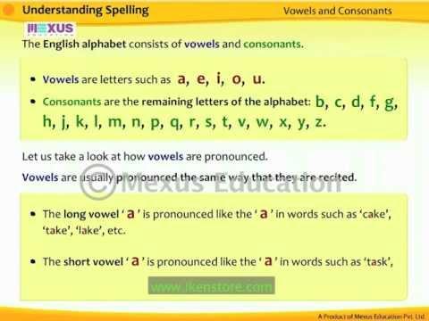 Understanding Spelling Part 1