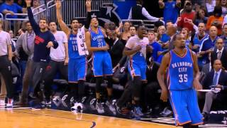 Thunder vs Magic - CRAZY Durant, Oladipo, Westbrook CLUTCH 3s.
