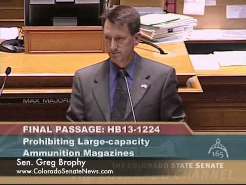 Sen. Greg Brophy HB13-1224 Third Reading (Shortened)