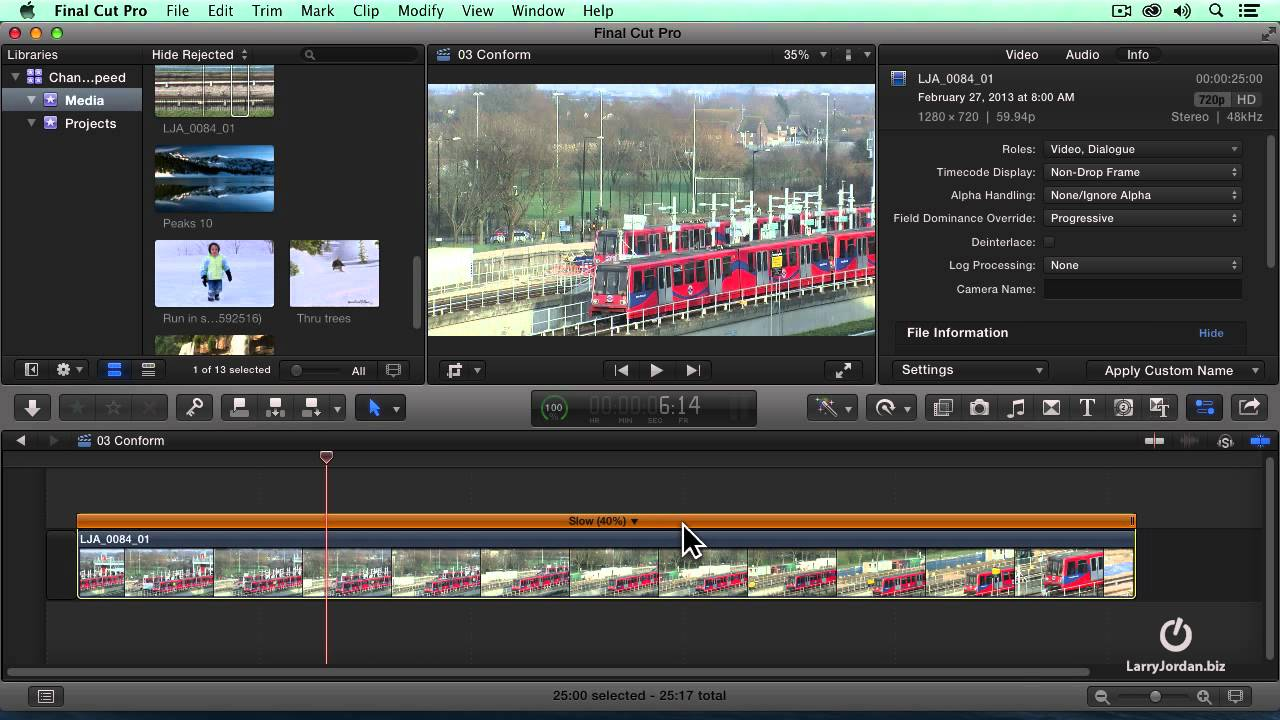How To Conform A Clip in Final Cut Pro X - YouTube