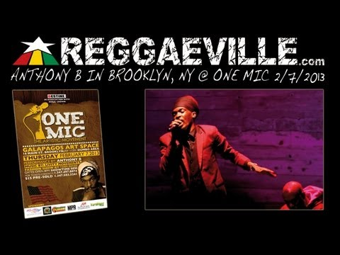 Anthony B - Imagine (John Lennon Cover) @ One Mic in Brooklyn, NY 2/7/2013