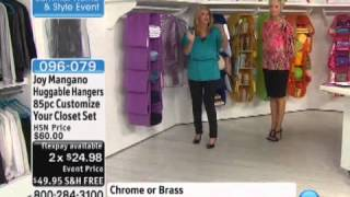 Joy Mangano Huggable Hangers 85-piece Customize Your Clo...