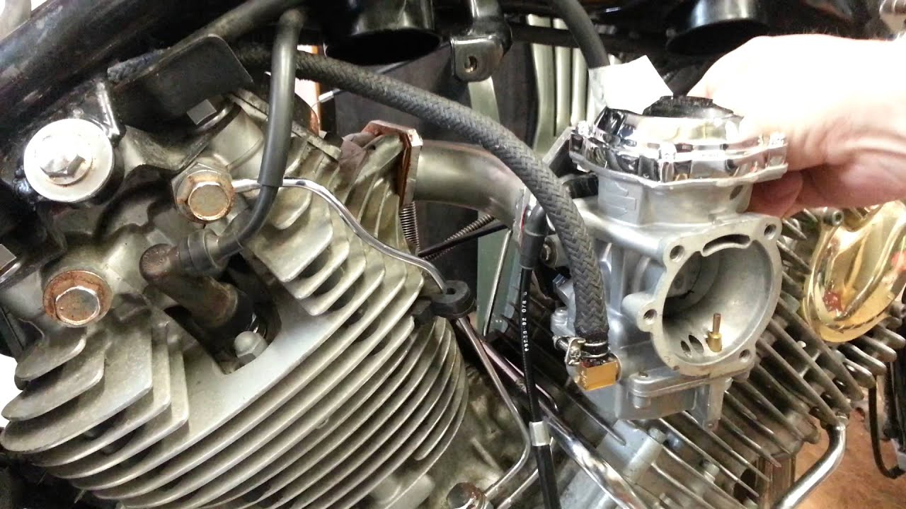yamaha virago 1100 single carburettor conversion