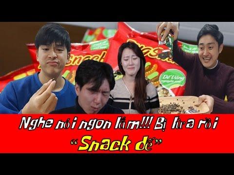Những chàng trai Hàn Quốc cùng bạn ăn Snack dế 특이한 과자 도전기, 귀뚜라미 스낵 도전!