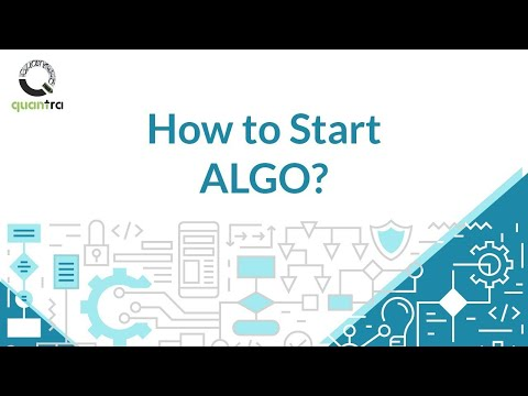 How to start Algorithmic Trading?