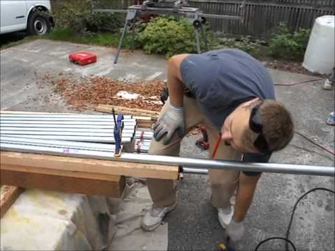How to Make And Install Metal Railing, Deck Railing, Conduit Railing