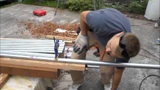 How to Make And Install Metal Railing, Deck Railing, Conduit Railing