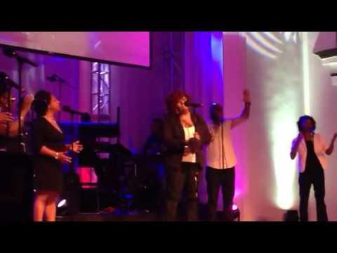 Christie Brooks singing Tasha Cobbs Grace