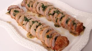 Prosciutto & Spinach Stuffed Pork Tenderloin - Laura Vitale - Laura in the Kitchen Episode 486