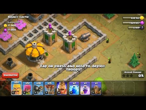 Clash of Clans - Level 20 - Bouncy Castle - Single Player Campaign Walk-through
