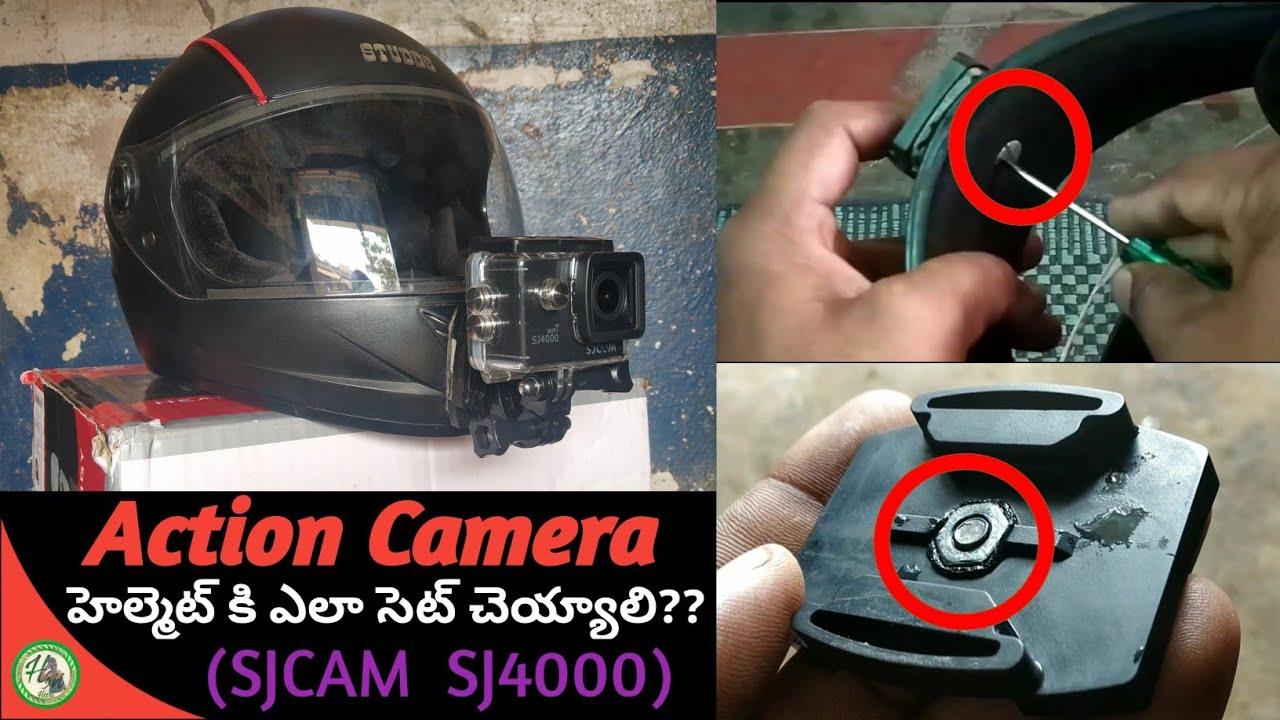 So fixieren Sie die Action-Kamera Ihres Motorradhelms (SJCAM SJ4000) + video