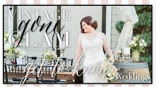 "Sacramento Wedding Inspiration: ""Vintage Gone Glam"" Get to Know: Shelagh Schiro"