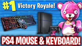 GIRL CAUGHT ME USING MOUSE AND KEYBOARD ON PS4 FORTNITE!