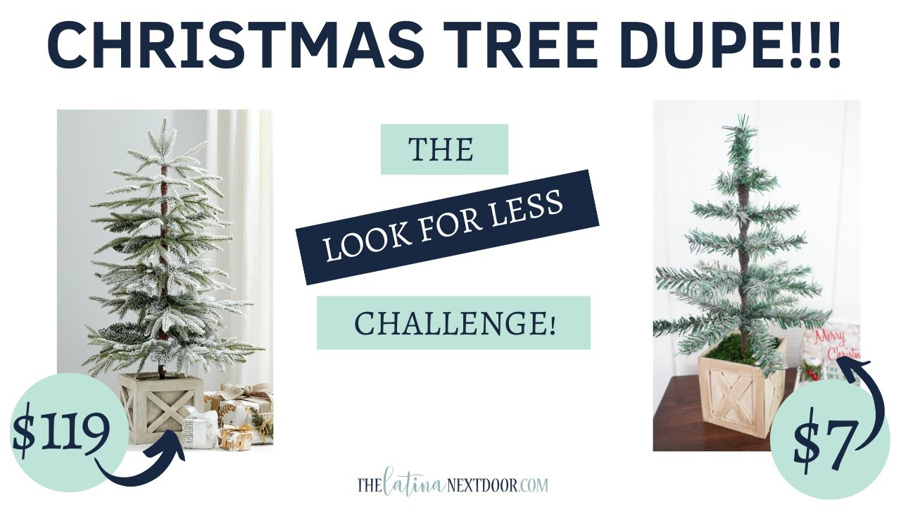 FLOCKED CHRISTMAS TREE DIY | Look for Less Challenge October 2020 | Dollar Tree Christmas DIY