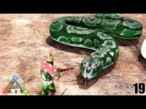 ARK: Survival Evolved - Worlds LARGEST Snake PRIME TITANOBOA !!! ARK MODDED MEGA ExCORE E19