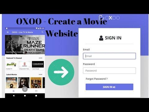 Create Movie Website|OXOO - Android Live TV & Movie Portal
