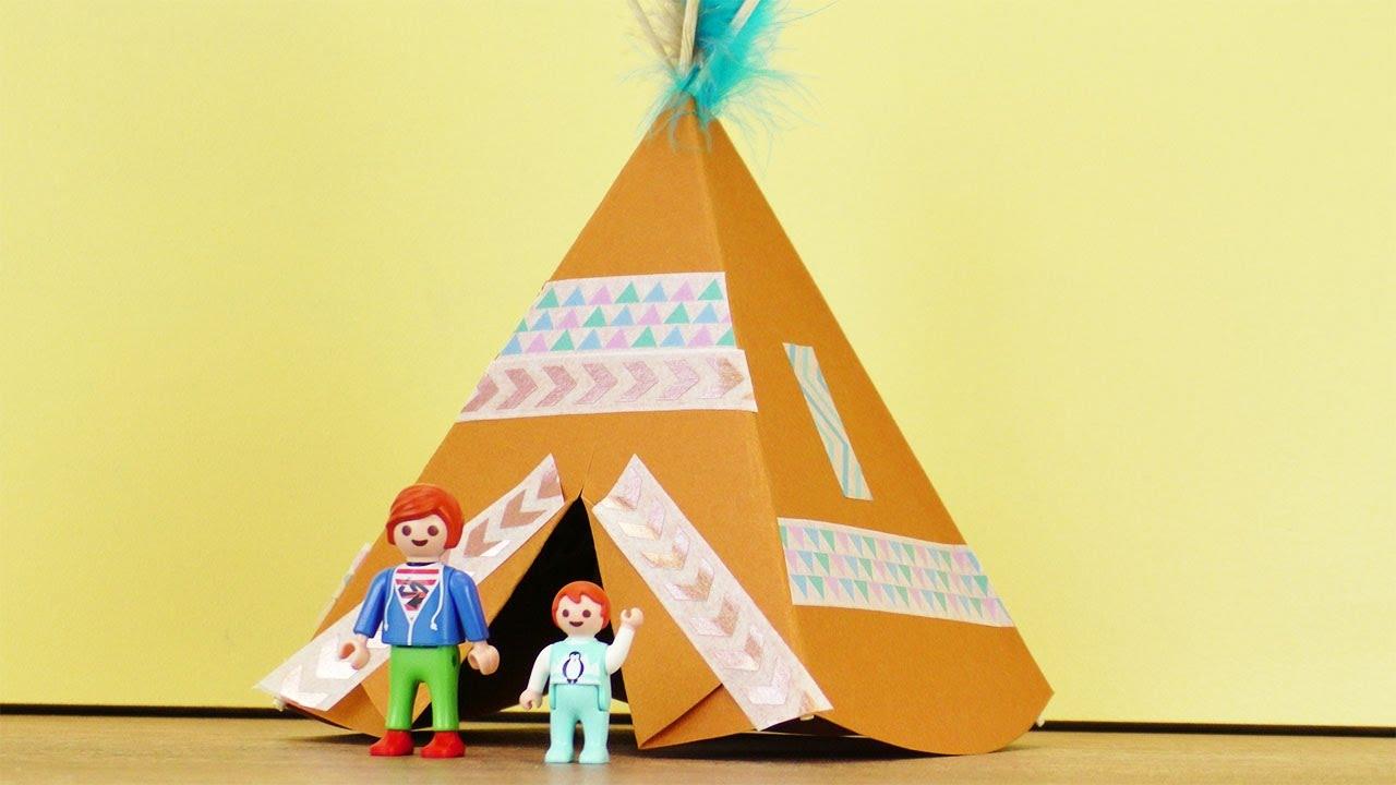 Zelt Basteln : Playmobil familie vogel bekommt ein tippi indiander zelt