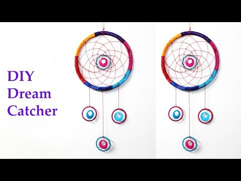 DIY Dream Catcher using old bangles   waste bangle wall hanging
