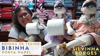 Como fazer uma Boneca de Tecido Porta Papel Higiênico – Parte 3