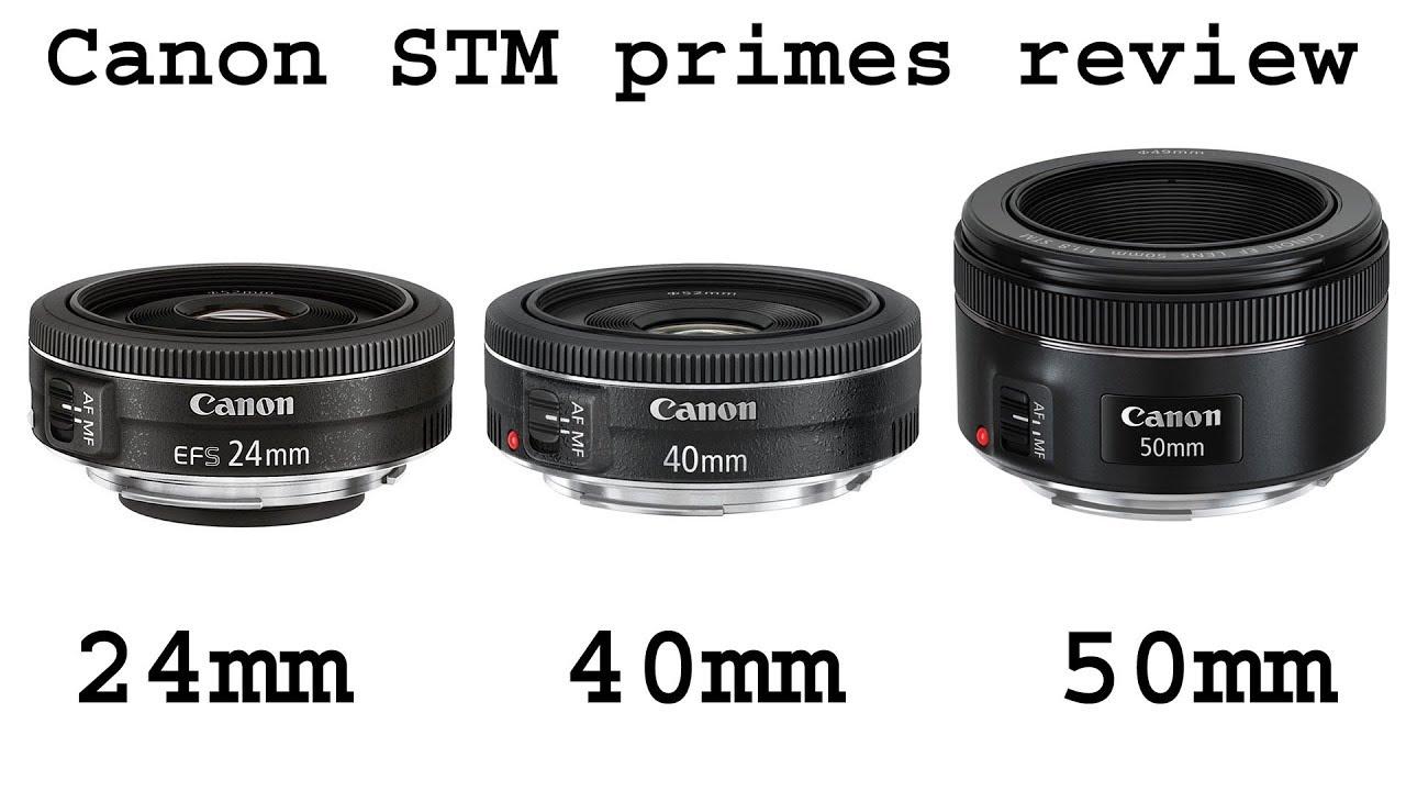 Canon 24mm f/2.8 STM vs 40mm f/2.8 STM vs 50mm f/1.8 STM review (on ...