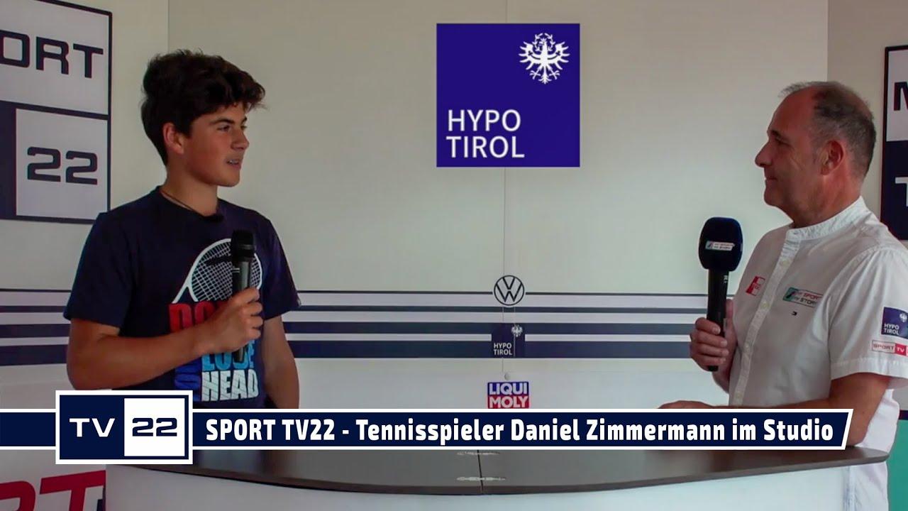 SPORT TV22: Der Tennisspieler Daniel Zimmermann im Studio