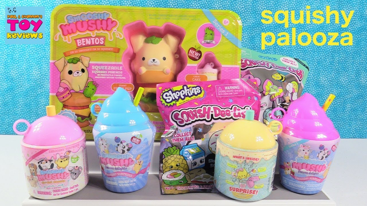 Smooshy Mushy Creamery Series 3 : Smooshy Mushy Series 2 Squish-Dee-Lish Shopkins Squishy Toy Review PSToyReviews - YouTube
