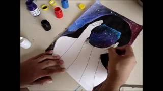 Drawing constellation-Watercolor