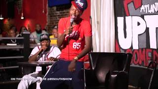 T.I. pulls up to The 85 South Show with D.C. Young Fly & Karlous Miller