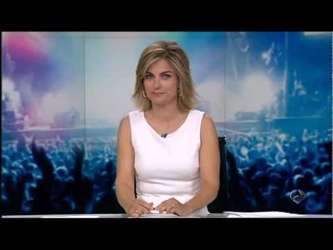 Spanish TV news (Antena 3) - June Calsor