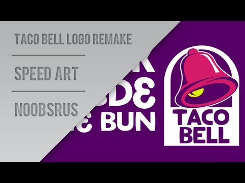 Taco Bell Logo taco bell logo remake :: speed art :: noobsrus - youtube