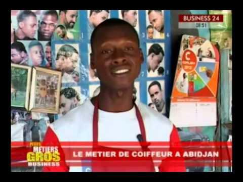 BUSINESS24 Petits Metiers Gros Business Le metier de coiffeur a Abidjan