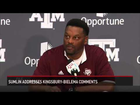 Kevin Sumlin Addresses Kingsbury-Bielema Comments