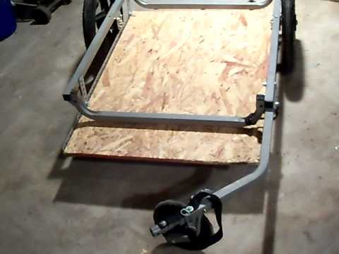 Homemade Bicycle Trailer Cheap Light Sturdy Classy