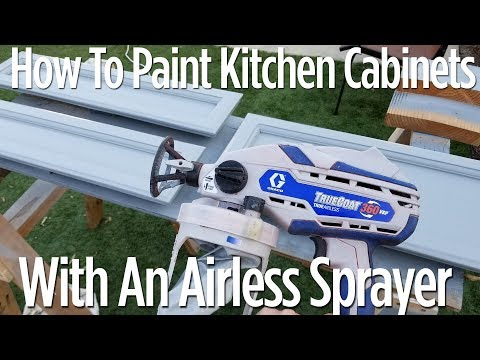 How to Paint Kitchen Cabinets - With an Airless Graco Sprayer