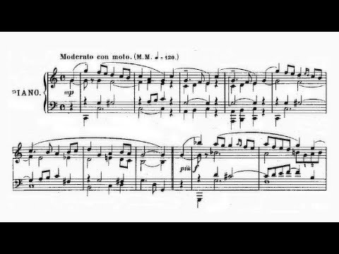 Ossip Gabrilowitsch - Variations on an original theme Op. 4 (audio + sheet music)