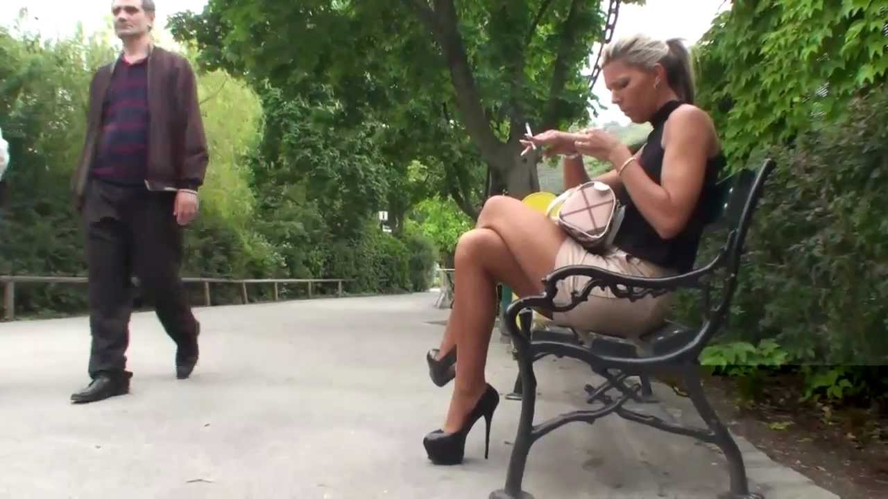 public zoo visit in high heels  u0026 secretary outfit
