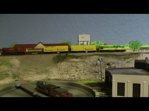 Track Cleaning on my Layout using 2 WDM2 locomotives