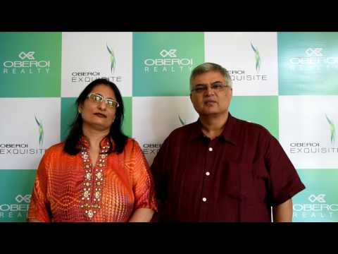 Exquisite by Oberoi Realty – The Nayyar family expressing their elation