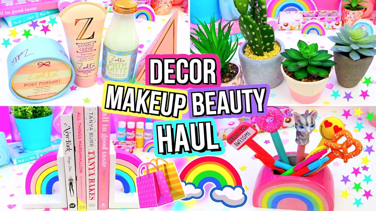 Huge fun room decor makeup haul youtube for Room decor haul