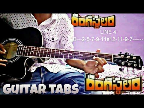 DSP solo guitar tabs||Rangasthalam|| Yentha sakkagunnave song||