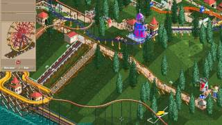Rollercoaster Tycoon Corkscrew Follies #64 (Gentle Glen: Against my nature)